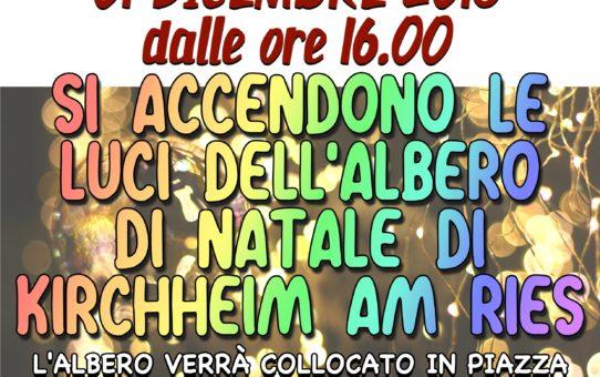 SI ACCENDONO LE LUCI DELL'ALBERO DI NATALE (01 dicembre 2018)